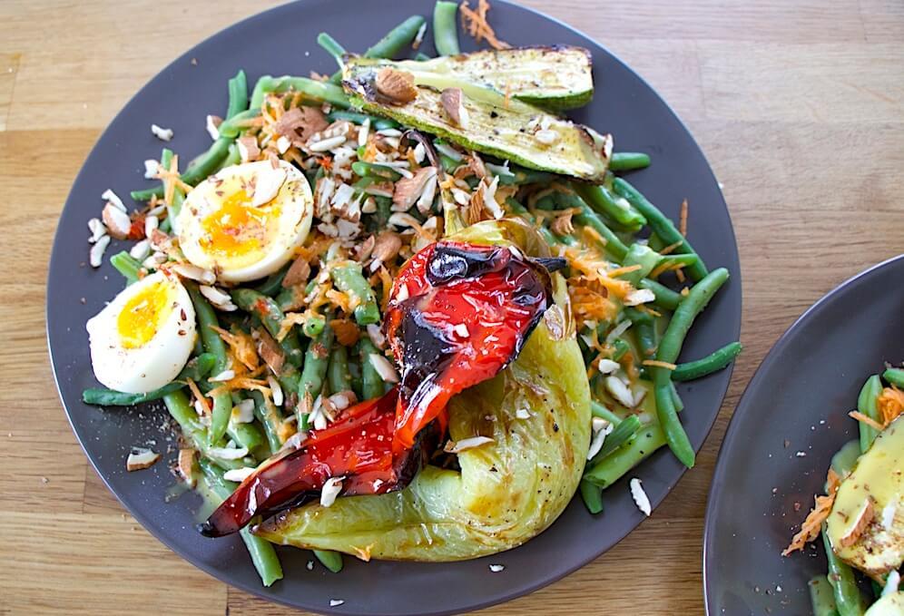 The Green Bean Salad & The Pina Colada Smoothie
