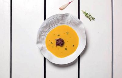 Fava Soup & Onion Jam